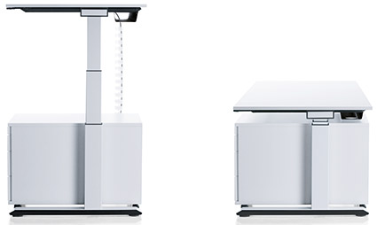 Sedus temptation c modèle bureau individuel electrique reglable hauteur